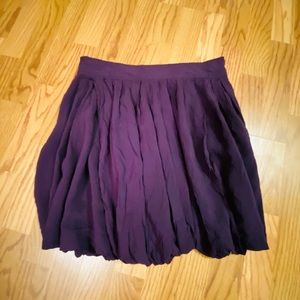 Purple Pleated Bubble Skirt